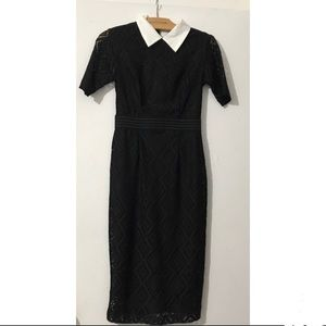 New York and Company Collared Black Dress -Small